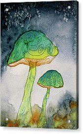 Green Dreams Acrylic Print by Beverley Harper Tinsley