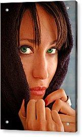 Green Eyed Beauty Acrylic Print by Jon Van Gilder