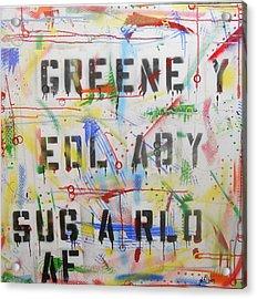 Green Eyed Lady Acrylic Print