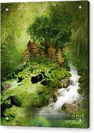 Acrylic Print featuring the digital art Green - Fantasy Art By Giada Rossi  by Giada Rossi