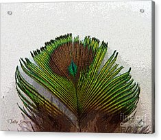 Green Feather Tip Acrylic Print