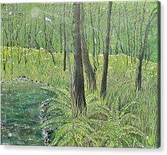 Green Fern Acrylic Print by Leo Gehrtz