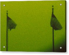 Green Flags Acrylic Print by Lawrence Horn