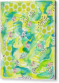 Green Floral Abstract Acrylic Print