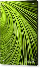 Green Flow Abstract Acrylic Print