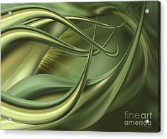 Green Flow Acrylic Print