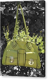 Green Flower Bag Acrylic Print