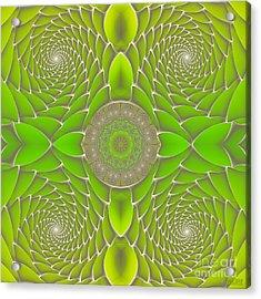 Green Fractal Jewel Acrylic Print