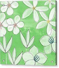 Green Garden Acrylic Print by Linda Woods