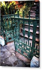 Green Gate Of Savannah Acrylic Print by John Rizzuto