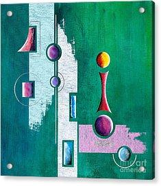Green Geometrical Play Acrylic Print by Franziskus Pfleghart