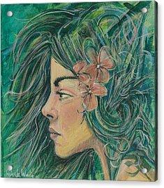 Green Goddess Acrylic Print by Erik Warn