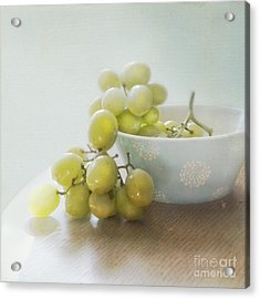 Green Grapes Acrylic Print by Cindy Garber Iverson