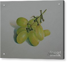 Green Grapes Acrylic Print by Pamela Clements