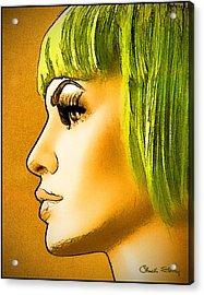 Green Hair Acrylic Print