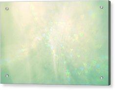 Green Hearts Acrylic Print