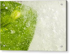 Green Ice Acrylic Print by Ahmed Tarek Shaffik