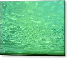 Green Ice Planet Acrylic Print by Jaime Neo