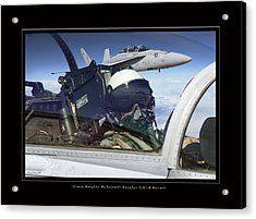 Green Knights Acrylic Print by Larry McManus
