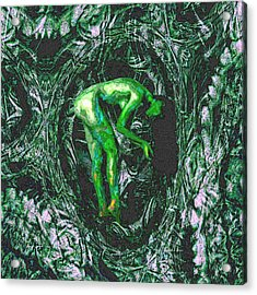 Acrylic Print featuring the painting Gaia Earthly Goddess Nymph Farie Mother Earth Fine Art Print by David Mckinney