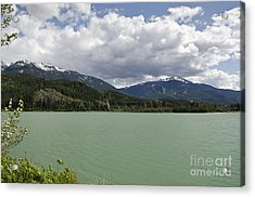 Acrylic Print featuring the photograph Green Lake At Whistler by Maria Janicki