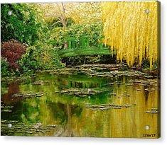 Green Lake Acrylic Print by Svetla Dimitrova