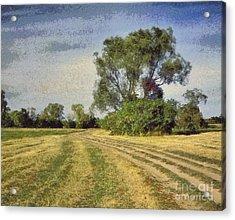 Green Landscape  Acrylic Print