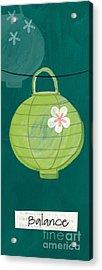 Green Lantern  Acrylic Print by Linda Woods