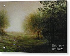 Green Acrylic Print by Larry Preston
