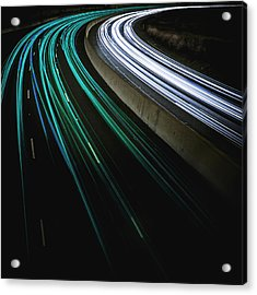 Green Light Trail Acrylic Print