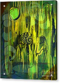 Acrylic Print featuring the painting Green Light by Yul Olaivar