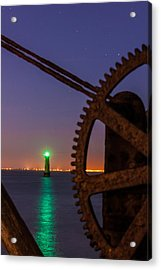 Green Lighthouse Acrylic Print by Semmick Photo