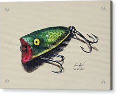 Green Lure Acrylic Print by Aaron Spong