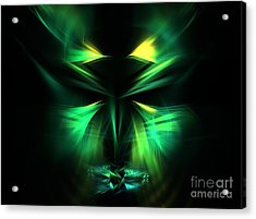 Green Man Acrylic Print by Kim Sy Ok