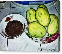 Green Mangoes Acrylic Print