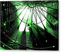 Green Marriott Marque Acrylic Print