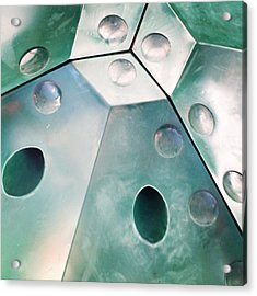 Green Metal Abstract Acrylic Print