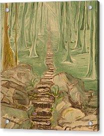 Green Mist Acrylic Print