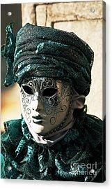Green Model Acrylic Print by John Rizzuto
