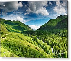 Green Mointain Acrylic Print by Boon Mee