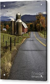 Green Mountain Country Roads Acrylic Print