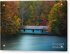 Green Mountain Covered Bridge Huntsville Alabama Acrylic Print