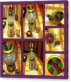 Green N' Purple Acrylic Print