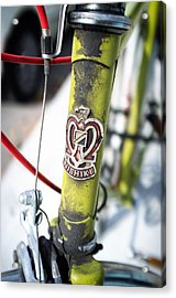 Green Nishiki Bicycle Acrylic Print by Tanya Harrison