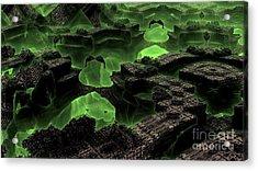 Green Odyssey Acrylic Print by Bernard MICHEL