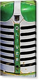 Green Oliver Farm Tractor Acrylic Print