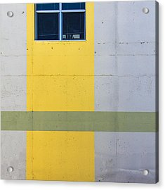 Green On Yellow Acrylic Print