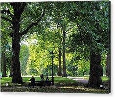 Green Park Acrylic Print by Karen E Phillips