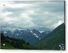 Green Pastures And Mountain Views Acrylic Print by Aimee L Maher Photography and Art Visit ALMGallerydotcom