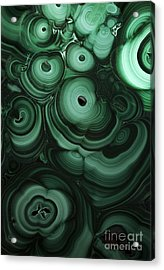 Green Patterns Of Malachite Acrylic Print
